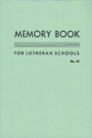 Memory Book for Lutheran Schools