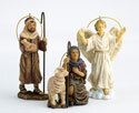 Shepherds and Angel Ornament (Set of 3)