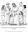 A Living Hope Coloring Page - Jesus with People
