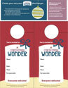 A Christmas Wonder Door Hangers (Downloadable)