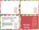 A Chocolate Life Recipe Card Template