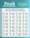 "Peak Performance ""Bible Reading Plan"""