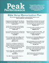 "Peak Performance ""Bible Verse Memorization Plan"" (Downloadable)"