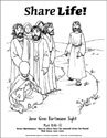 Share Life! Coloring Page - Jesus Gives a Blind Man Sight