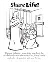 Share Life! Coloring Page - Doubting Thomas