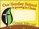 Growing in Christ Outdoor Banner