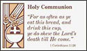 Communion Registration Cards (Pkg of 500)