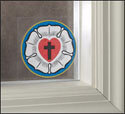 Luther's Rose Window Clings (Pkg of 2)
