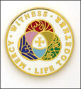 LCMS Witness Mercy Lapel Pin