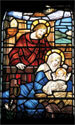 Stained Glass Series Banner: Jesus Birth