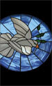 Stained Glass Series Banner: Dove