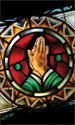 Stained Glass Series Banner: Prayer