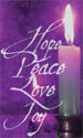 Advent Banner: Hope, Peace, Love Joy