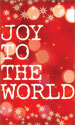 Christmas Banner: Joy to the World - Snow