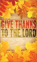 Harvest Banner: Give Thanks Leaves