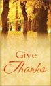 Harvest Banner: Give Thanks Trees