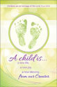 Standard Baby Baptism Bulletin: A Child Is