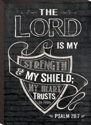 The Lord Is My Strength Mini Wall Decor