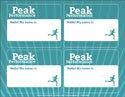 Peak Performance Nametag Template