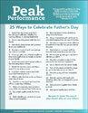 "Peak Performance ""25 Ways to Celebrate Father's Day"""