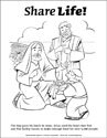 Share Life! Coloring Page - Jesus Feeds 5000
