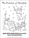The Promises of Christmas Coloring Page - Angels and Shepherds