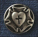 Luther's Rose Pin - Pewter Finish