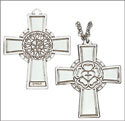 Luther Rose Pectoral Cross - Sterling Silver