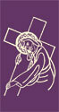 Jesus Carries His Cross Lenten Banner 3' x 6'