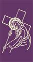 Jesus Carries His Cross Lenten Banner 3' x 6'