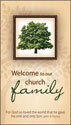 Communication Card: Welcome to Our Church Family (Pack of 50)
