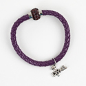 Purple Rope Bracelet with LWML Charm