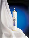 "Tube Christ Candle, 2 7/8"" x 13"""