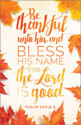 Standard Thanksgiving Bulletin: Be Thankful Unto Him