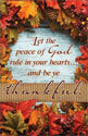 Standard Thanksgiving Bulletin: Let the Peace of God