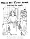 Teach Me Your Truth Coloring Page - Jesus in the Temple