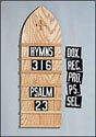 """Hymnboard Numerals - 3-5/8"""" tall"""