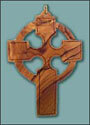 Olive Wood Celtic Clergy Cross